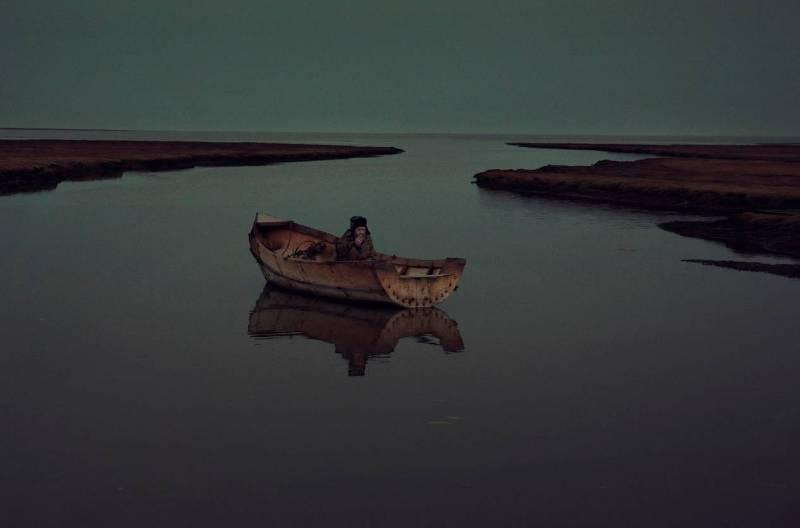 Лодка, сделана собственноручно одиноким полярником.