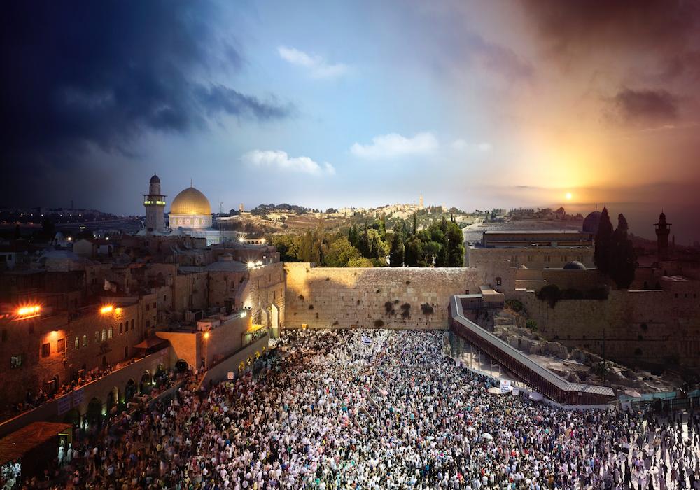 Западная Стена, Иерусалим, Израиль.
