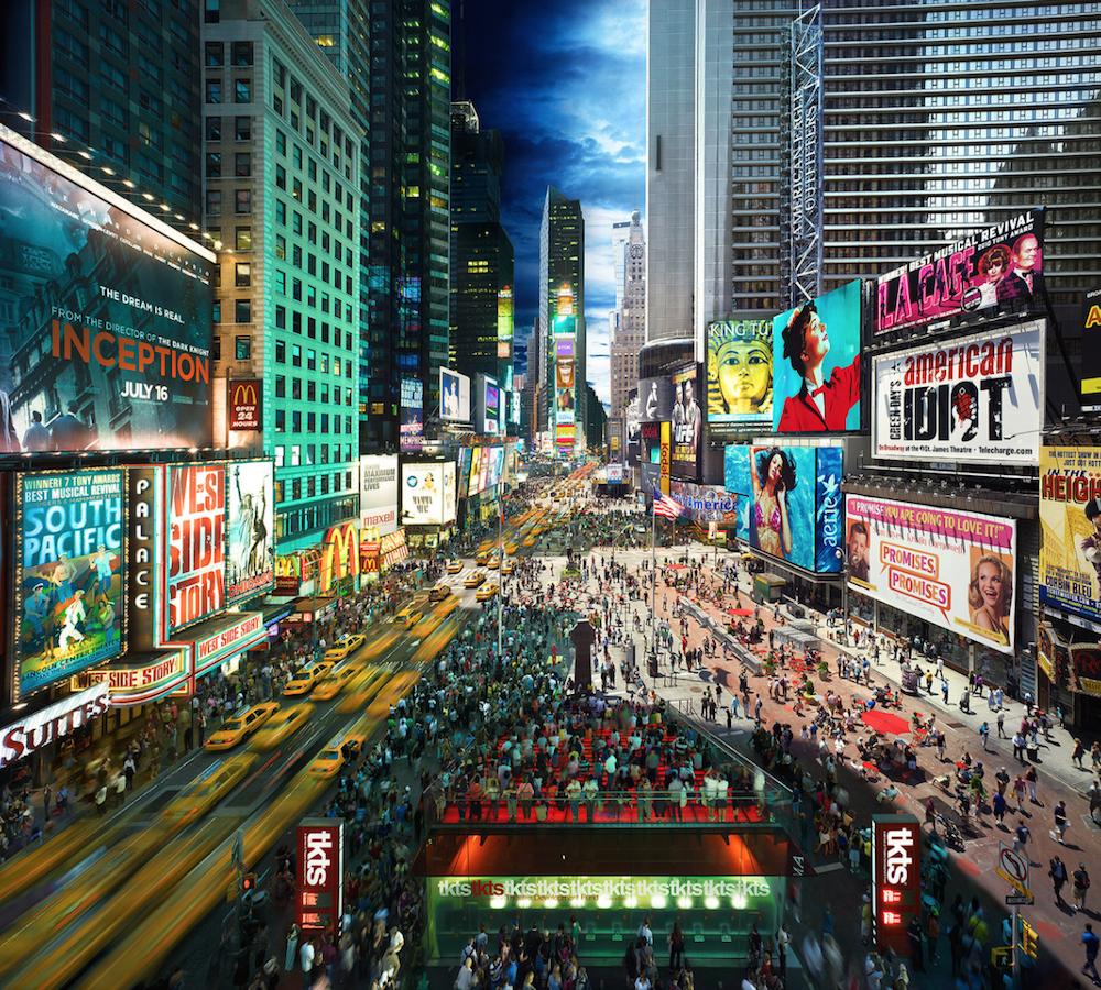 Таймс-Сквер, Нью-Йорк, США.