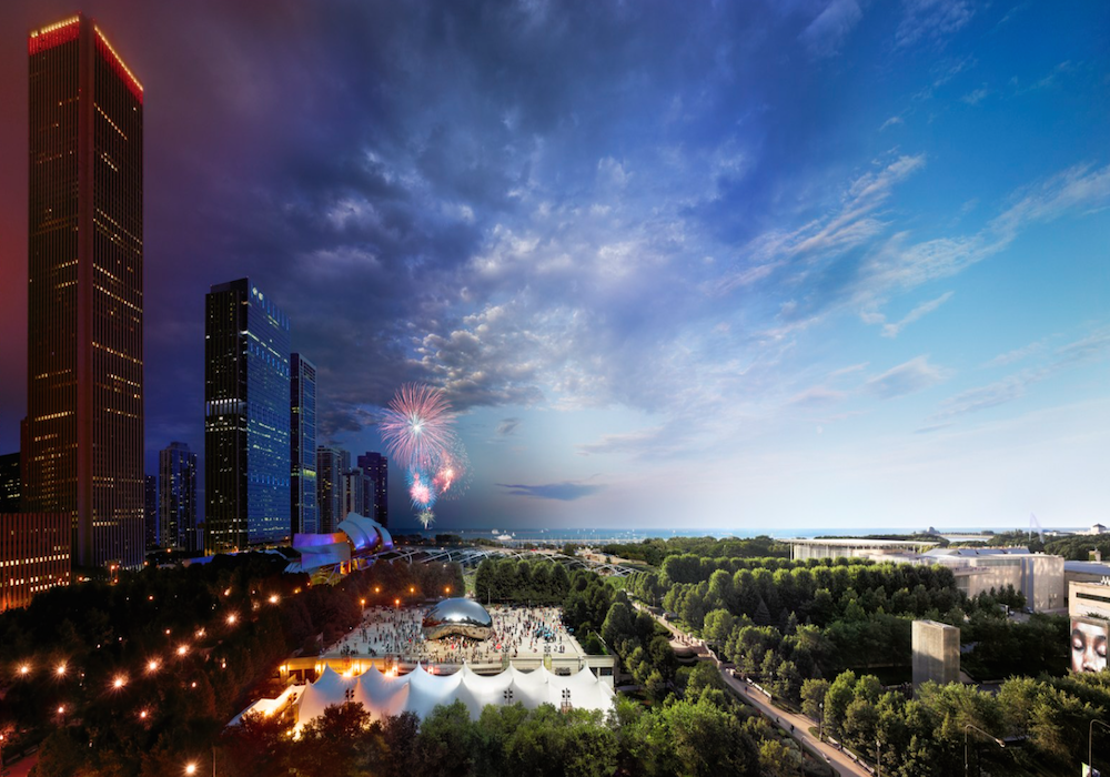 Миллениум-парк, Чикаго, США.