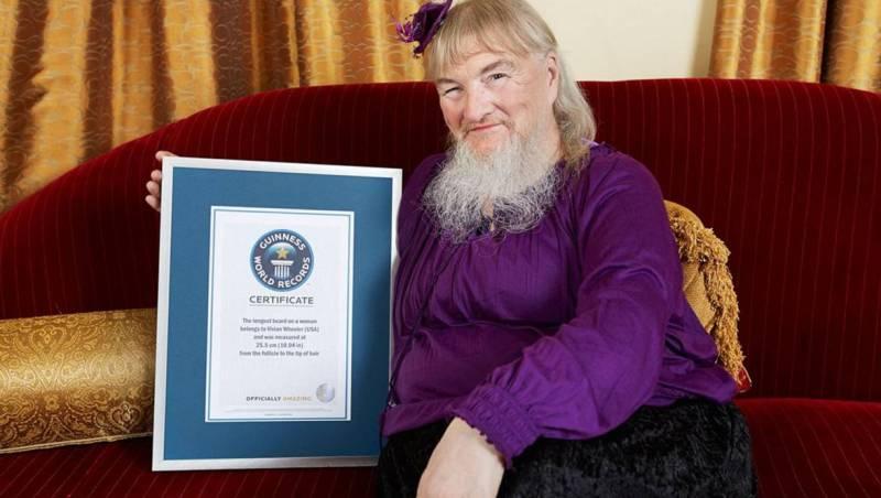 Самая длинная борода женщина
