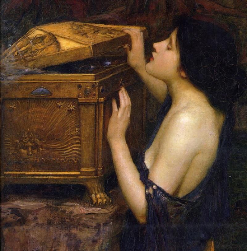 Выражение Ящик Пандоры, Пандора мифы, открыть ящик Пандоры, Пандора на картинах художников