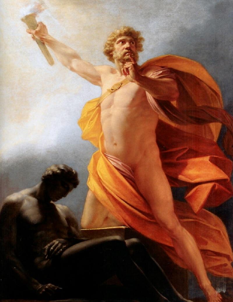Прометей титан, огонь Прометея, Прометей на картинах художников