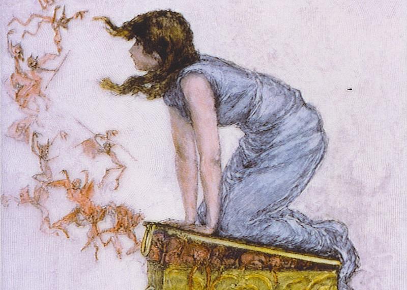 Выражение Ящик Пандоры, открыть ящик Пандоры, Пандора на картинах, Пандора мифы