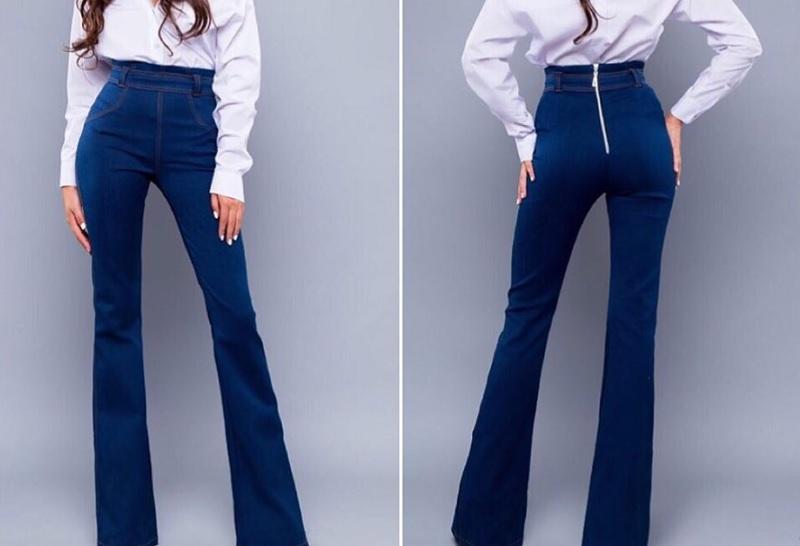 джинсы клеш, модная одежда 2019